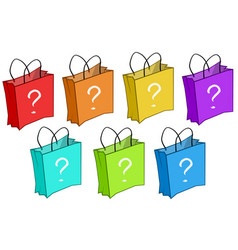 Mystery shopping bags vector