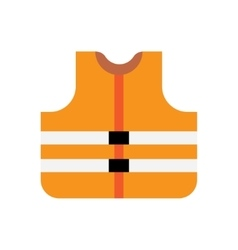 Orange safety vest vector image