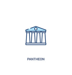 Pantheon concept 2 colored icon simple line vector