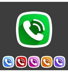 Phone flat icon sign symbol logo label set vector