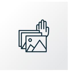 Photo presentation icon line symbol premium vector