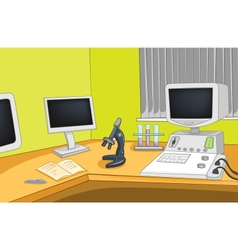 Physics Laboratory vector image