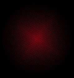 red circle of dots on a black background vector image