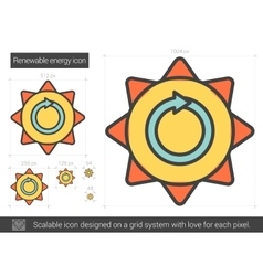 Renewable energy line icon vector