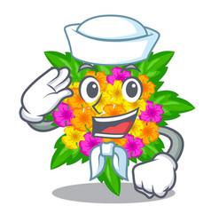 Sailor lantana flowers in the mascot pots vector