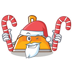 santa with candy dustpan character cartoon style vector image