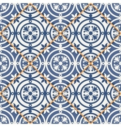 Seamless patchwork pattern Moroccan tiles vector