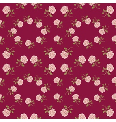 Seamless vintage roses pattern vector