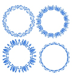 Set floral ornate round frames for your design of vector