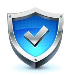 Shield as protection icon vector