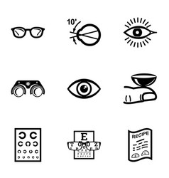 Sight icons set simple style vector