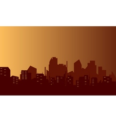 Silhouette of lined flats vector