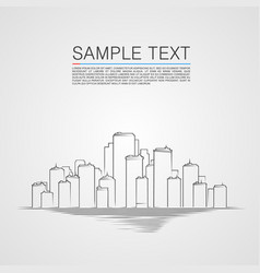 Sketch city landscape background vector