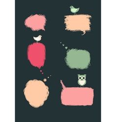 Speech bubbles with birds vector image