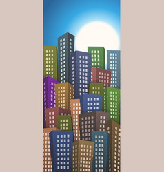 summer or spring cityscape height background vector image