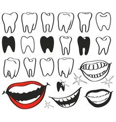 Teeth vector