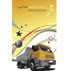 truck background vector image