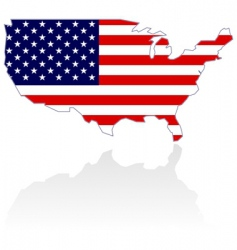 united states map and flag vector image