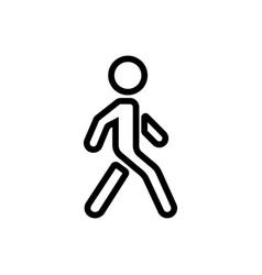 walking man figure icon outline vector image