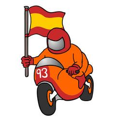 Winner motorcycle racing vector