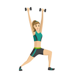 woman fitness icon girl doing sport exercises vector image