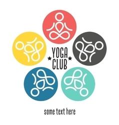 Yoga club template vector image