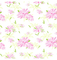 Colorful Flower Seamless Pattern vector image