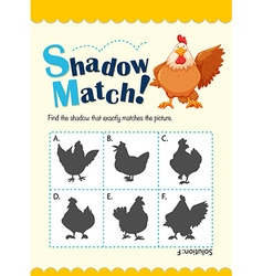 Game template for matching chicken vector
