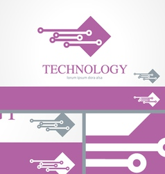IT Information Technology Logo Concept Template vector image