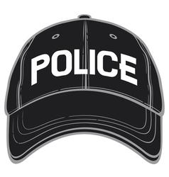 police baseball cap-police hat vector image