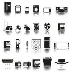 24 Icons of home appliances vector image vector image