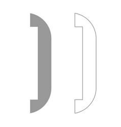 accessories for door set icon vector image vector image
