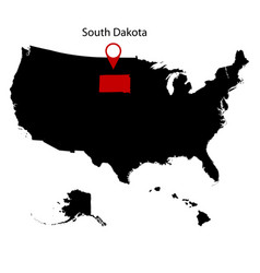 Map of the us state of south dakota vector
