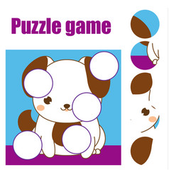 Puzzle for toddlers children educational game vector