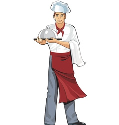 young cook vector image vector image