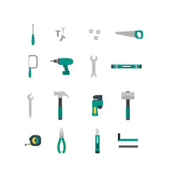 cartoon hand tools color icons set vector image
