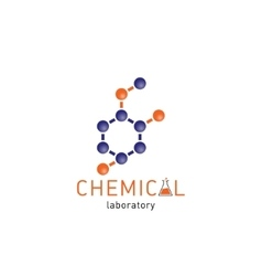 Chemical laboratory logo on a white background vector image