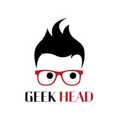Geek person logo template vector image