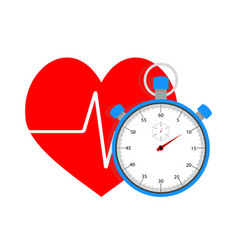 measure pulse of stopwatch vector image vector image