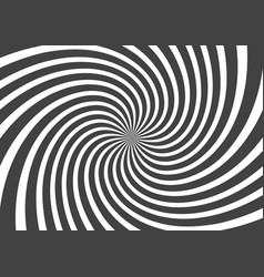 psychedelic spiral with radial gray rays swirl vector image