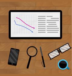 Concept economic analysis vector