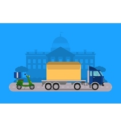 Delivery transport cargo logistic vector image