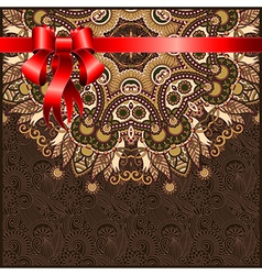 Holiday ornate floral background vector image