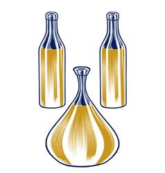 pitcher bottle set vector image
