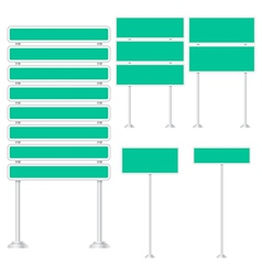 set of signpost vector image vector image