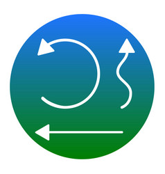 simple set to interface arrows white icon vector image