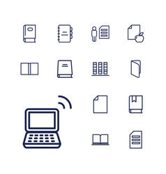 13 book icons vector