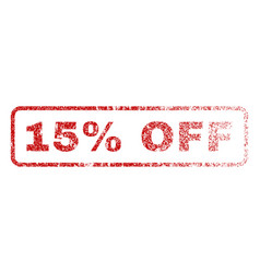 15 percent off rubber stamp vector image