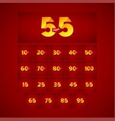 55 years anniversary celebration logo template vector