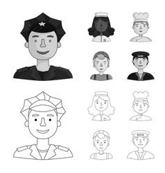 A nurse cook builder helmet taxi driver vector